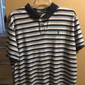 Blue striped men Ralph Lauren polo shirt
